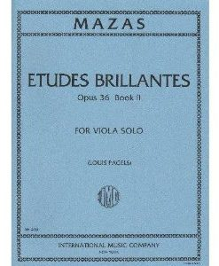 Mazas Jacques Fereol Etudes Brillantes, Op. 36, Book 2 - Viola solo - by Louis Pagels International